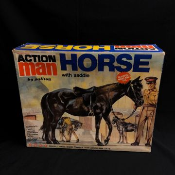 VINTAGE ACTION MAN -  HORSE with Saddle - BOXED